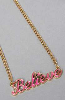 Disney Couture Jewelry The Believe Necklace in Pink  Karmaloop