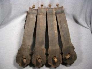 Set of 4 Antique Oak Wood Victorian Table Legs Lion Head & Paw