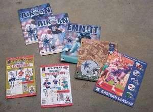 DALLAS COWBOYS PLAYERS FOLDERS AND COLORING BOOKS