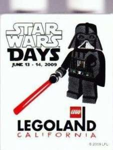 LEGO LEGOLAND STAR WARS DAYS DARTH VADER DUPLO BRICK 2009 STORE PROMO