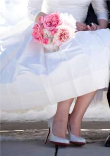 Christian Louboutin Elisa 39.5 crystal strass clear crystal bridal