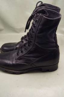 Brazos Combat Black Leather Paratrooper 8 Mens Hiking Boots