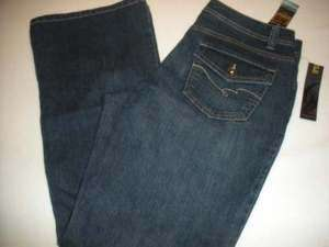 NEW WOMEN NINE WEST STRETCH JEANS SIZE 14/31 AVG FLAPS