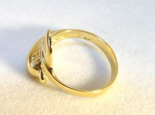 10K Solid Yellow Gold Wrap Around Dolphin Ring