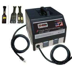 36V 25Ah Dual Pro Golf Cart Battery Charger w/ D Plug for EZ Go