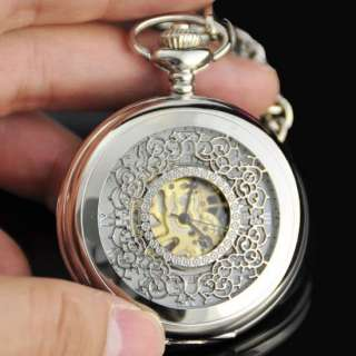 Silver Tone * Turtle* Pendant Pocket Watch with keyring