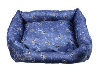 Soft Dog Bed, Cat Bed, Pet Bed w/ Paw Prints   Large