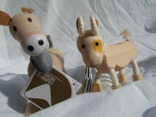 Eco Friendly Wooden Toys Anamalz Farm Goat Donkey