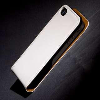 Ledertasche für Apple iPhone 4s weiss weiß Etui Hülle Leder Tasche