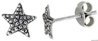 Sterling Silver Star Stud Earrings es77