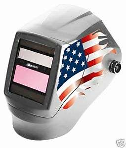 Best Welds Variable Shade ADF Silver American Flag Welding Helmet