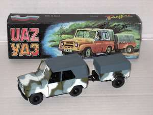 Russian Military Uaz 469 Command Camo Trailer 1/43 USSR