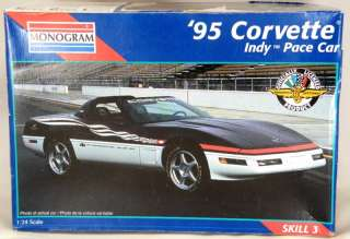 Scale 1995 Corvette Indy Pace Car Model Kit   Skill 3   Monogram #2467