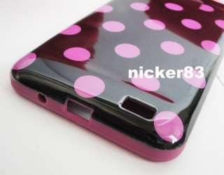 Pattern TPU Gel Case Cover shell fr Samsung Galaxy S2 i9100+Clear Film