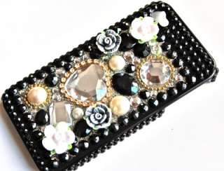 iPhone 4 STRASS Cover Hard Case BLING 3D glitzer hülle
