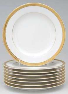 Royal Porcelain ELEGANCE GOLD Set of 8 Salad Plates