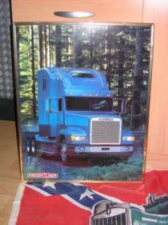 Truckerbild FREIGHTLINER mit Südstaaten USA Amerika Flagge  in