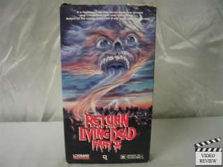 Return of the Living Dead Part 2 VHS James Karen