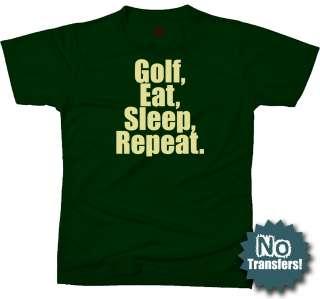 Golf Eat Sleep funny lover disc cool NEW T shirt