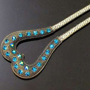 ADDL Item  1pc Austrian rhinestone crystal Antiqued hair