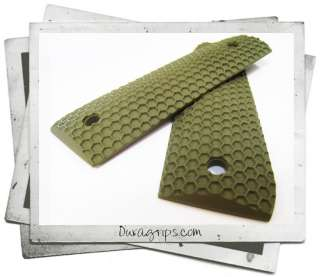 Ruger 22/45 RP Grips   DURAGRIPS   WASP NEST   OD GREEN