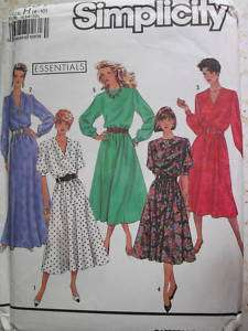 Simplicity 9951 Sz 6 10 Dress Sewing Pattern Uncut