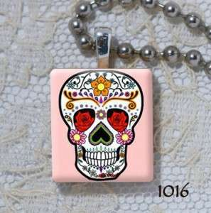 Sugar Skull   Day of the Dead   Scrabble Charm