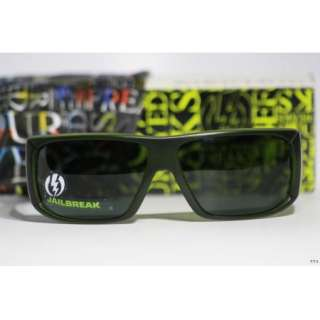 NIB Electric Visual Jailbreak Sunglasses   Opaque Army w/ Grey Lens