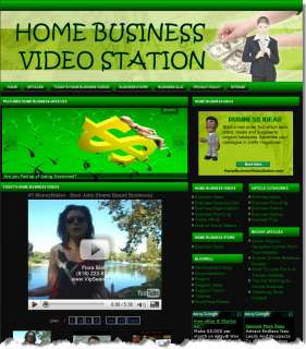 HOME BUSINESS ADVICE, STORE & VIDEO WEBSITE BUSINESS