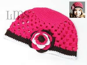 H11 new infant toddler baby girl crochet beanie hat |