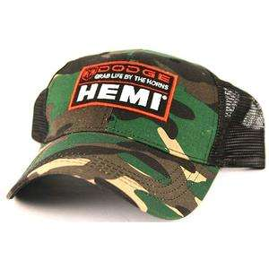 Dodge Ram Hemi Camo Camouflage Mesh Back Trucker Baseball Hat Ball Cap