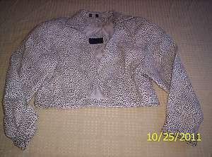 LJ 59 Vintage Mario Zarelli Leather Leopard Print Ladies Jacket Size L