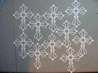 Stampin Up/Sizzix Whisper White Cross Die Cuts 10 All Occasion