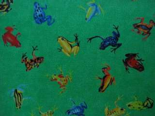 Kelly Green Frog Cotton Drapery Upholstery Fabric