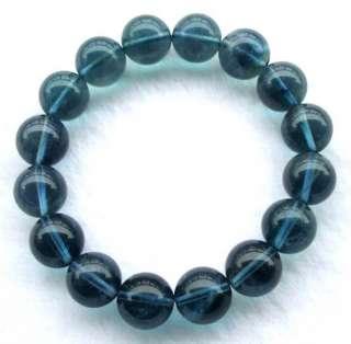 Natural Blue Fluorite Round Beads Stretch Bracelet 12mm