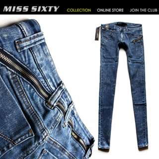 NEW Stunning Round Zipper MISS SIXTY Ladys Cool Jeans