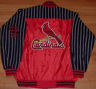 St Louis Cardinals Warm Up Jacket Large Pinstripes MLB
