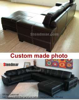 2PC NEW CLASSIC EURO DESIGN LEATHER SECTIONAL SOFA S95A