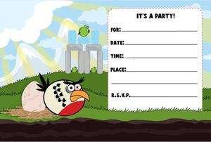 Angry Birds Party Invitations 4x6 30 Invites