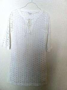 Allegra Hicks XS White Cotton Long Tunic