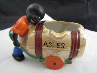 African American Man Pushing an Ash Cart Black Heritage Figurine  Made
