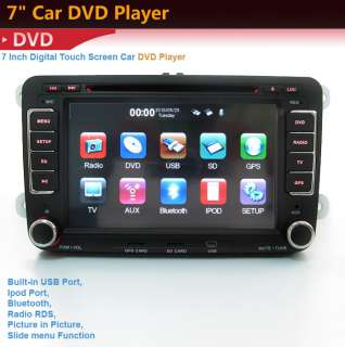 din CAR GPS dvd player radio for VW IPOD TV
