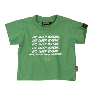 PLAIN LAZY  EAT SLEEP SCREAM T SHIRT (APPLE GREEN)