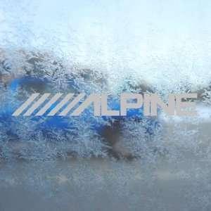 Alpine Stereo Logo Gray Decal Car Truck Window Gray