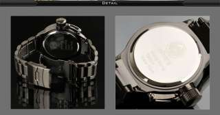 INFANTRY ARMY MILITARY BLACK STAINLESS STEEL MENS WATCH