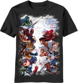 Licensed Capcom VS Marvel Gods Adult Lightweight Shirt