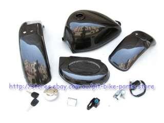OEM Honda Monkey Dax bike Carbon fiber Plastics, Tank, Lock Kit & Tap