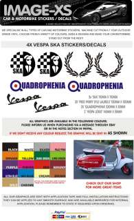 8X VESPA SKA QUADROPHENIA MOD STICKER DECAL GRAPHIC