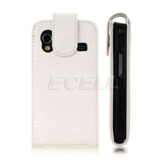 NEW WHITE LUXURY SOFT LEATHER FLIP STYLE CASE COVER FOR SAMSUNG GALAXY