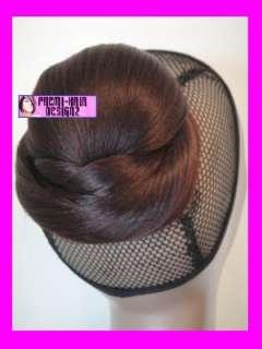 HAIRPIECE CLIP ON IN BUN ROYAL PLUM 99J HAIR UPDO